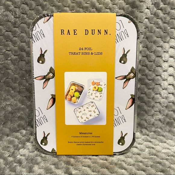 Rae Dunn BUNNY LOVE Easter theme treat bins